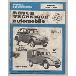 REVUE TECHNIQUE AUTOMOBILE  RTA CITROËN 2cv 4 2cv6 et spécial, 250 et 450.