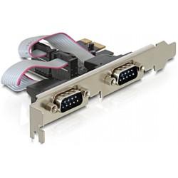 Carte contrôleur PCI Express 2 ports RS-232 SERIE (DB-9)