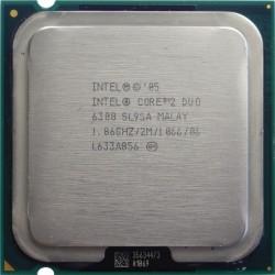 CPU INTEL Core 2 Duo E6300 1.86Ghz 2Mo 1066Mhz LGA775 SL9SA