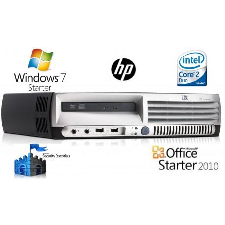 PC HP DC7700 ultra slim intel CORE 2 E6300 2 GO HDD 80 GO graveur DVD WINDOWS 7