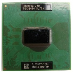 Intel Pentium M 740 1.73 GHz mPGA478C FSB 533 2 Mo SL7SA