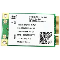 CARTE WIFI MINI-PCI Intel WiFi Link 5100 512AN_MMW 802.11a/b/g/n