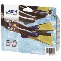 Epson PicturePack T5846 pour Epson PictureMate cartouche + 50 feuilles photo glacé