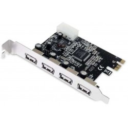 carte USB  PCI Express USB 2.0 4 Ports + 1 interne