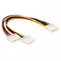 """Cable Alimentation Interne Molex Doubleur 5.25"""" LONGUEUR 20 CM"""