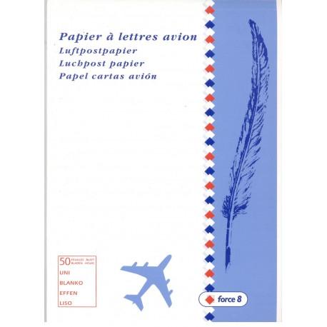 bloc de correspondance papier à lettres avion A5 45 g/m² Blanc force 8