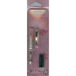 Stylo plume NAF-NAF avec 3 recharge encre Bleue