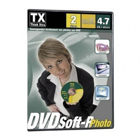 10 DVD VIERGE SPECIAL SAUVEGARDE PHOTO TX THINK XTRA DVDSoft-R BOITIER SLIM DVD