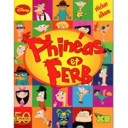 """ALBUM VIDE PANINI """"Phinéas et Ferb"""" DISNEY"""