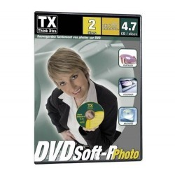 100 DVD VIERGE SPECIAL SAUVEGARDE PHOTO TX THINK XTRA DVDSoft-R BOITIER SLIM DVD