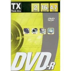 PACK 2 DVD-R VIERGE THINK XTRA 4.7 GO 16X DANS BOITIER SLIM