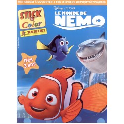 LE MONDE DE NEMO  DISNEY PIXAR  ALBUM STICK & COLOR