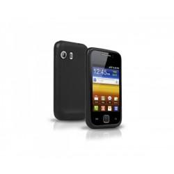 COQUE Silicone + film protecteur ecran Samsung Galaxy Y S5360 / S5369 NOIR