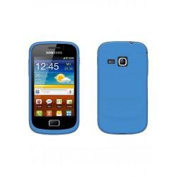 COQUE Silicone BLEU Samsung S6500 / Galaxy Mini 2