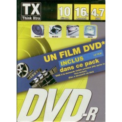 PACK 10 DVD-R VIERGE THINK XTRA 4.7 GO 16X DANS BOITIER SLIM+film IRON MAN