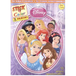 ALBUM PANINI STICKERS COLORIAGE DISNEY PRINCESSE STICK & COLOR