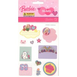 STICKERS SHEETS PANINI BARBIE - BOOK STICKERS
