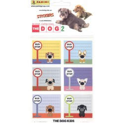 STICKERS SHEETS PANINI THE DOG 2 ART LIST COLLECTION - BOOK STICKERS