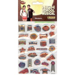 STICKERS SHEETS PANINI DISNEY HIGH SCHOOL MUSICAL