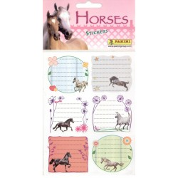 STICKERS SHEETS PANINI THE HORSES / LES CHEVAUX - BOOK STICKERS