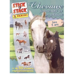 ALBUM STICKERS PANINI CHEVAUX JUMENTS ET POULAIN STICK & STACK