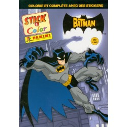 "ALBUM PANINI STICKERS COLORIAGE ""BATMAN"" STICK & COLOR"