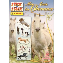 ALBUM STICKERS PANINI MES AMIS LES CHEVAUX STICK & STACK