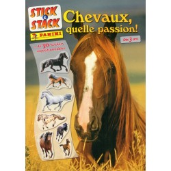 ALBUM STICKERS PANINI CHEVAUX QUELLE PASSION! STICK & STACK
