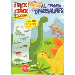 ALBUM STICKERS PANINI AU TEMPS DES DINOSAURES STICK & STACK