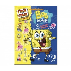 "ALBUM STICKERS PANINI ""BOB L'EPONGE"" STICK & STACK"
