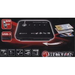Lecteur Woxter combo de cartes mémoire et cartes à puce, SIM, hub USB