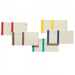 10 Blocs vendeurs double numérotage bande couleur 100 feuillets - Format 6,6x13