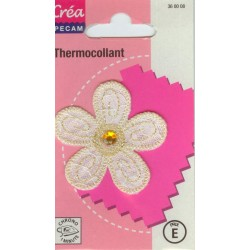 Ecusson Thermocollant FLEUR CREA PECAM