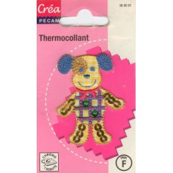 Ecusson Thermocollant FUNNY DOG CREA PECAM
