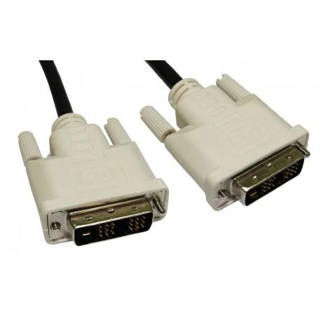 Câble Video DVI 1,8 mètres mâle-mâle Moniteur, PC Écran, TFT Haute Qualité