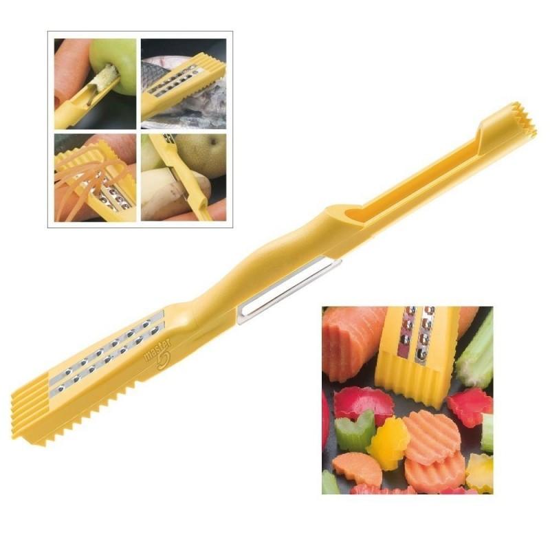 Eplucheur econome master multifonction 5 en 1 coupe l gume videur caille bazaar discount - Coupe legumes multifonction ...